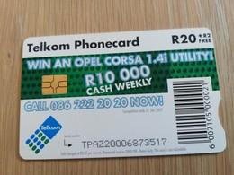 SOUTH AFRIKA  20R    Chipcard     1CARD Used **1311** - Südafrika