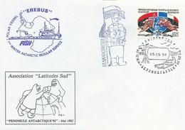 """Lettre Polar Vessel """"EREBUS"""" Avec Timbre Russie N°5567 - Cachet D'une Base Russe Du 15/05/1992 - Polar Ships & Icebreakers"""