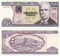 CUBA 50 Pesos P 123 J 2015 UNC - Cuba