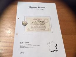 Etiquette Vin 1998 «CÔTES-DU-RHÔNE VILLAGES - CAIRANNE -DOMAINE BRUSSET - COTEAUX DES TRAVERS - Cairanne (84)» - Côtes Du Rhône