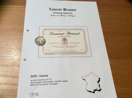 Etiquette Vin 1999 «CÔTES-DU-RHÔNE VILLAGES - CAIRANNE -DOMAINE BRUSSET - VENDANGE CHABRILLE - Cairanne (84)» - Côtes Du Rhône