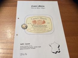 Etiquette Vin 1999 «CÔTES-DU-RHÔNE VILLAGES - CAIRANNE -Castel Mireio- BERTHET RAYNE MICHEL & ANDRÉ - Cairanne (84)» - Côtes Du Rhône