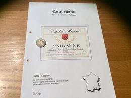 Etiquette Vin 1990 «CÔTES-DU-RHÔNE VILLAGES - CAIRANNE -Castel Mireio- BERTHET RAYNE MICHEL & ANDRÉ - Cairanne (84)» - Côtes Du Rhône