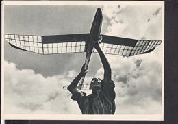 Postkarte HJ Pimpf Mit Modelsegelflieger - Storia Postale
