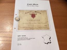 Etiquette Vin 150cl «CÔTES-DU-RHÔNE VILLAGES - CAIRANNE -Castel Mireio- BERTHET RAYNE MICHEL & ANDRÉ - Cairanne (84)» - Côtes Du Rhône