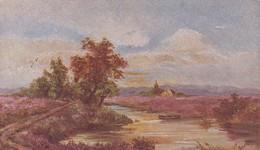 AK Landschaft Mit Fluss - Künstlerkarte - Feldpost Fuhrpark-Kolonne Nr. 750 - 1918  (48896) - Illustrators & Photographers