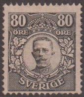 1911-1919. Gustav V. 80 ÖRE. Scarce Stamp. Only 1000 Issued. Certificate Franz Obermü... (Michel 85) - JF136144 - Ungebraucht