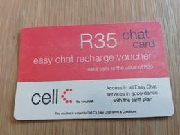 SOUTH AFRIKA  35 R   RECHARGE VOUCHER      1CARD Used **1331** - Südafrika