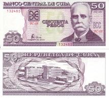 CUBA 50 Pesos P 119 2001 UNC - Cuba