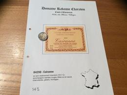 Etiquette Vin 2000 «CÔTES-DU-RHÔNE VILLAGES - CAIRANNE - DOMAINE RABASSE CHARAVIN - C COUTURIER -CUVÉE D'ESTEVENAS (84)» - Côtes Du Rhône