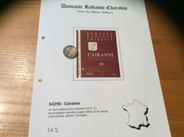 Etiquette Vin 2001 «CÔTES-DU-RHÔNE VILLAGES - CAIRANNE - DOMAINE RABASSE CHARAVIN - CORINNE COUTURIER - Cairanne (84)» - Côtes Du Rhône