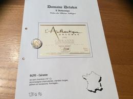 Etiquette Vin 1995 «CÔTES-DU-RHÔNE VILLAGES - CAIRANNE - L'Authentique - DELUBAC - Cairanne (84)» - Côtes Du Rhône