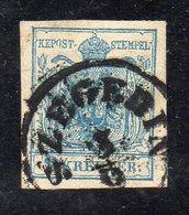490 1118 - AUSTRIA 1850 , 9 Kr N. 5  Usato  (M2200) SZEGEDIN - Usati