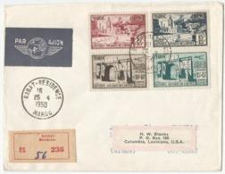 Maroc Yv.294/295 + PA 79/80 Série Complète Sur Enveloppe Oblitération FDC 1950 Oeuvres Sociales De L'Armée - Maroc (1891-1956)