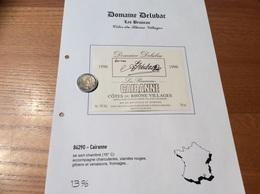 Etiquette Vin 1996 «CÔTES-DU-RHÔNE VILLAGES - CAIRANNE - Domaine DELUBAC - Les Bruneau - Cairanne (84)» - Côtes Du Rhône