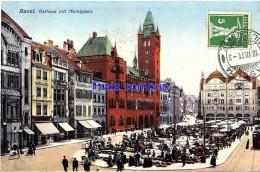CH - Suisse - Basel - Rathaus Mit Marktplatz - 1911 - BS Basle-Town