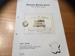 Etiquette Vin «CÔTES-DU-RHÔNE VILLAGES - CAIRANNE - BERTHET RAYNE PÈRE & FILS - Cairanne (84)» - Côtes Du Rhône