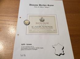 Etiquette Vin 2000 «CÔTES-DU-RHÔNE VILLAGES - CAIRANNE - DOMAINE BERTHET RAYNE - Cairanne (84)» - Côtes Du Rhône