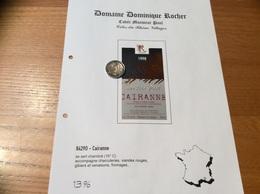 Etiquette Vin 1998 «CÔTES-DU-RHÔNE VILLAGES - CAIRANNE - Monsieur Paul - Dominique ROCHER - Cairanne (84)» - Côtes Du Rhône