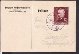 """Sonderstempel Danzig """" Der Führer Hat Uns Befreit """" 1939 - Deutschland"""