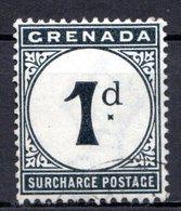 GRENADE - (Colonie Britannique) - 1892 - TAXE - N° 1 - 1 P. Noir - (Légende : SURCHARGE POSTAGE) - Central America