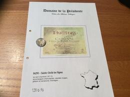 Etiquette Vin «CÔTES-DU-RHÔNE VILLAGES - CAIRANNE - LES PARTIDES - RESERVE -Max Aubert- Sainte-Cécile Les Vignes (84)» - Côtes Du Rhône