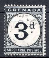 GRENADE - (Colonie Britannique) - 1892 - TAXE - N° 3 - 3.p. Noir - (Légende : SURCHARGE POSTAGE) - Central America
