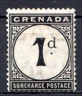 GRENADE - (Colonie Britannique) - 1892 - TAXE - N° 1 - 1.p. Noir - (Légende : SURCHARGE POSTAGE) - Central America