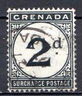 GRENADE - (Colonie Britannique) - 1892 - TAXE - N° 2 - 2.p. Noir - (Légende : SURCHARGE POSTAGE) - Central America