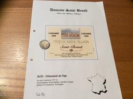 Etiquette Vin 2000 «CÔTES-DU-RHÔNE VILLAGES -CAIRANNE - Saint Benoit - Terrasse Du Belvédère - Châteauneuf Du Pape (84) - Côtes Du Rhône