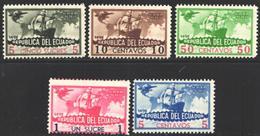 Ecuador, Aéreo 1935 Yvert Nº 36 / 37 MNH - Ecuador
