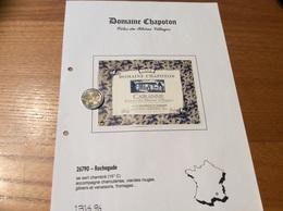 Etiquette Vin 1999 «CÔTES-DU-RHÔNE VILLAGES -CAIRANNE - DOMAINE CHAPOTON - A & S REMUSAN - Rochegude (26) - Côtes Du Rhône