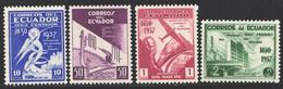 Ecuador, 1938  Yvert Nº 365 / 368,  MNH - Ecuador