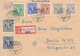 AB Brief AM Post Reco Einschreiben Scherfede 16.1.46 N. Berlin N113 - SBZ Prenzlauer Berg - Bizone