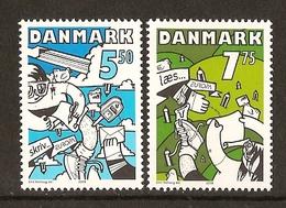 "DINAMARCA /DENMARK /DANMARK - EUROPA 2008 -Tema:""LA CARTA ESCRITA - WRITING LETTERS"".-SERIE De 2 V. - N - Europa-CEPT"