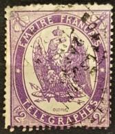 FRANCE 1868 - Canceled - YT 8 - 2F - Télégraphe - Telegraphie Und Telefon