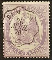 FRANCE 1868 - Canceled - YT 8 - 2F - Télégraphe - Telegraaf-en Telefoonzegels