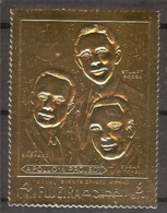 FUJEIRA Space,Apollo-14 Gold Foil  Set 1 Stamp   MNH - Space