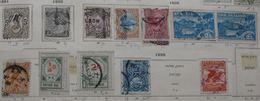 New Zeland 1891 1898 1900 (12 Stamps) 4 Scans - Oblitérés