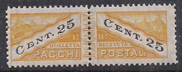 SAN MARINO 1945 PACCHI POSTALI TIPO DEL 1928 DENTELLATI IN MEZZO SASS. 19 MLH VF - Colis Postaux