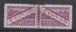 SAN MARINO 1945 PACCHI POSTALI TIPO DEL 1928 DENTELLATI IN MEZZO SASS. 20 MLH VF - Colis Postaux