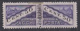 SAN MARINO 1945 PACCHI POSTALI TIPO DEL 1928 DENTELLATI IN MEZZO SASS. 21 MLH VF - Colis Postaux