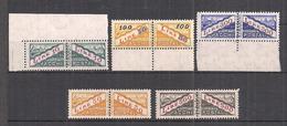 SAN MARINO 1956-61 PACCHI POSTALI  TIPI DEL 1945-46 FILIGRANA STELLA SASS. 37-41 MNH XF++++++++++++++ - Paquetes Postales