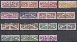 SAN MARINO 1945  PACCHI POSTALI  TIPI DEL 1928 DENTELLATI IN MEZZO SASS. 16-30 MNH XF - Parcel Post Stamps