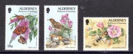 ALDERNEY 1997 - Yvert N° 100/102 - NEUFS** LUXE/MNH - Série Complète 3 Valeurs - Faune Et Flore - Alderney