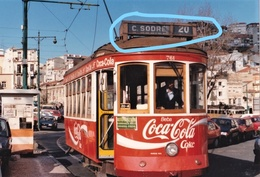 PHOTO   TRAM 3 LISBONNE PORTUGAL PUBLICITE COCA COLA REPRO - Coca-Cola