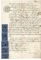 ARDECHE 1887 JOYEUSE TIMBRE FISCAL SCAN RECTO ET VERSO - Historische Documenten