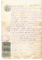 ARDECHE 1905 JOYEUSE TIMBRE FISCAL  SCAN RECTO ET VERSO - Historische Documenten