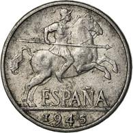 Monnaie, Espagne, 10 Centimos, 1945, Madrid, TB+, Aluminium, KM:766 - 10 Céntimos