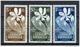 Guinea Española 1952. Edifil 314-16 ** MNH. - Guinea Espagnole